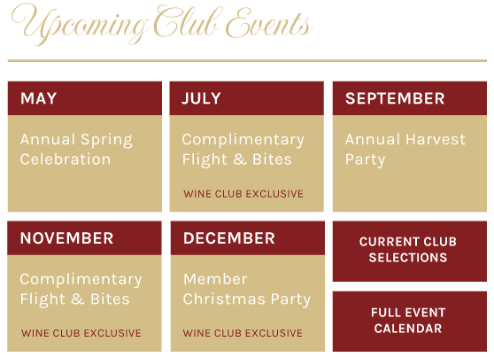 Upcoming Club Events