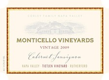 2009 MONTICELLO VINEYARDS Tietjen Vineyard Cabernet Sauvignon 750ml