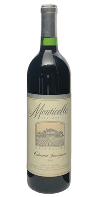 1985 MONTICELLO VINEYARDS Jefferson Cuvee Cabernet Sauvignon