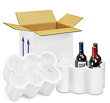 Six Bottle Shipping Box with Styrofoam