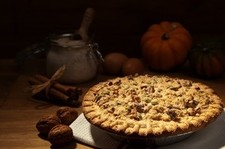 Pumpkin Pie with Walnut Crust